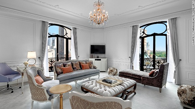 The Dior Suite at New York's St. Regis Hotel was designed to mimic the designer's sensibilities. Outfitted in Dior Grey, the room is like an interiors version of his eveningwear.