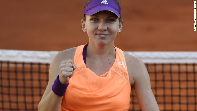 Simona Halep completes her semifinal victory over Andrea Petkovic to reach her first grand slam final.