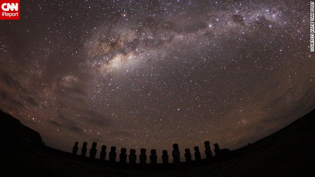 "<a href='http://www.gochile.cl/en/national-parks/parks/rapa-nui.html' target='_blank'>Rapa Nui National Park</a> on Chile's remote Easter Island, known for its mysterious, centuries-old giant statues, should be on everyone's bucket list, says <a href='http://ireport.cnn.com/docs/DOC-1020840'>Katie Van Fleet</a>, who visited in July 2013. ""I was in such awe when I stepped outside the car and saw the ENTIRE Milky Way like I had never seen it before,"" she wrote on CNN iReport."
