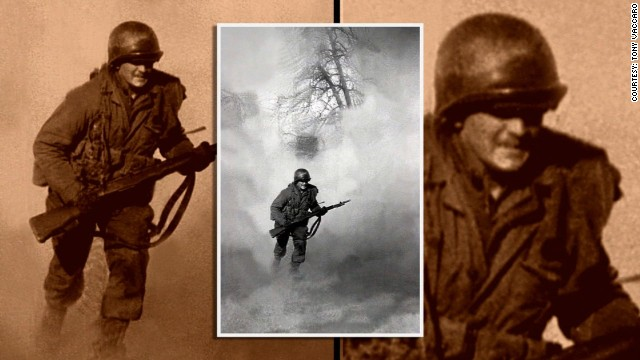 The images show the fighting ...