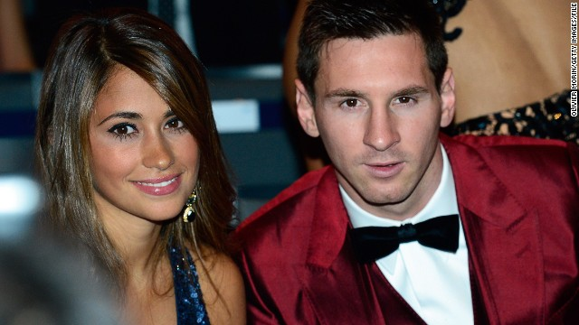 Messi is one of the highest earning football players in the world, recently signing a $50 million a year deal with Barcelona. Off the field, his heart lies with Argentine girlfriend Antonella Roccuzzo and their one-year-old son Thiago, whose hand prints he even had tattooed on his left leg.