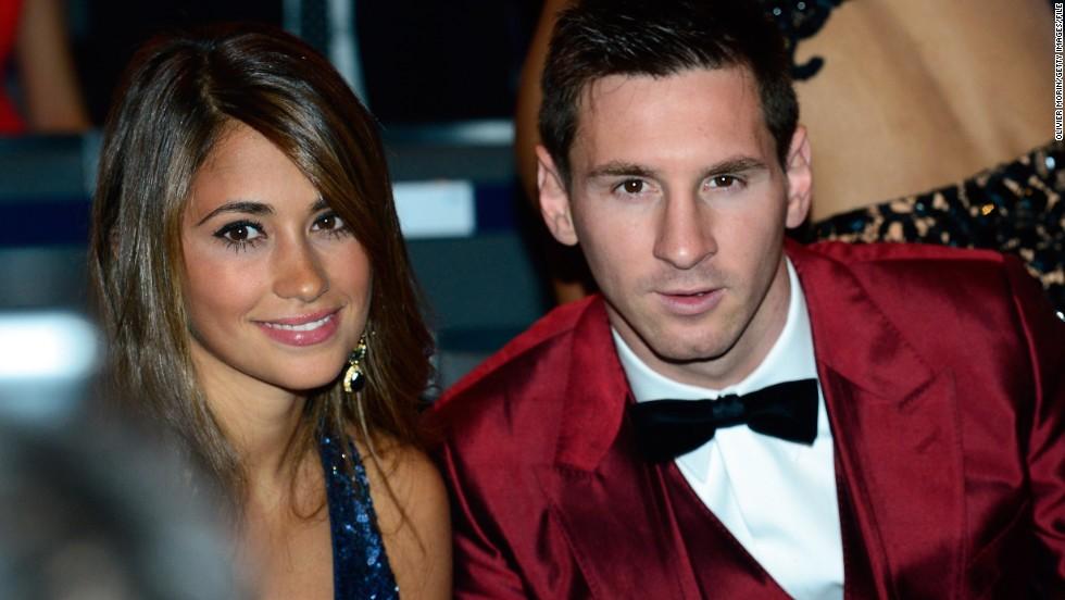 Antonella Roccuzzo y Lionel Messi