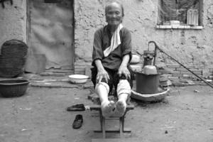 Pies vendados en China