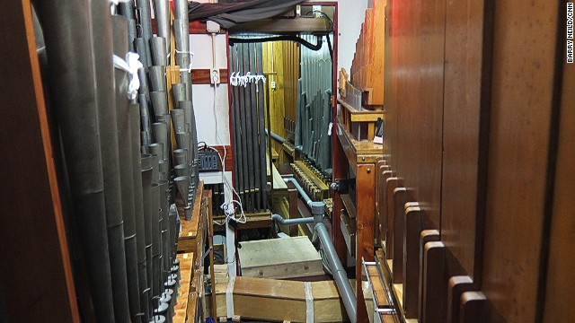 High-pressure air wheezes through the organ's innards as pipes vibrate to create its incredible array of sounds.