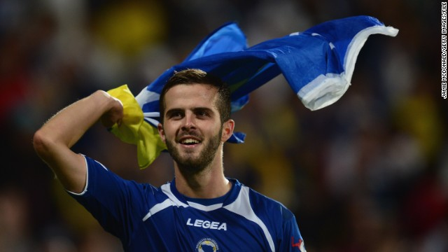 Miralem Pjanic is a gifted midfield playmaker who received high praise for his role in Roma's impressive second-place finish in Italy's Serie A.