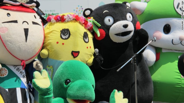 Funassyi (left) and Kumamon (right) are the two most popular yuru-kyaras (mascots) in Japan. They are leading a movement of cute, cuddly, and sometimes bizarre characters that drive big business and capture the hearts of both children and adults.