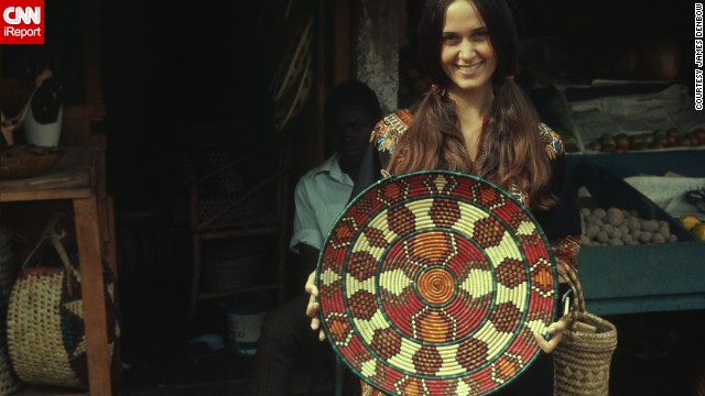"Not everyone was nerdy. Peace Corps volunteers <a href='http://ireport.cnn.com/docs/DOC-1139435 '>James Denbow</a> and his wife, Josie, pictured, had ""our first chance to encounter the wonderful world outside the United States"" in the '60s. This photo was taken in 1969 in Nairobi, Kenya, when they were 23 years old."