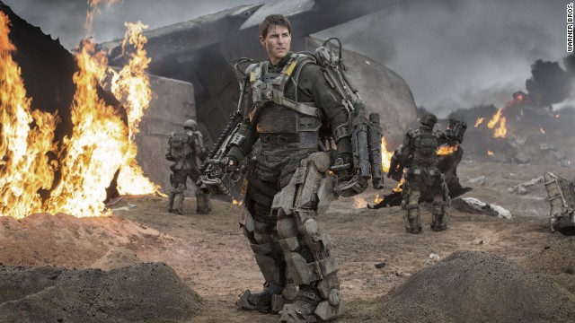 "In ""Edge of Tomorrow,"" characters get killed--and killed again--in fiery explosions, battlefield combat and other mayhem. Paris is left underwater after an alien attack, and a futuristic D-Day-like invasion leaves a French beach strewn with bodies."