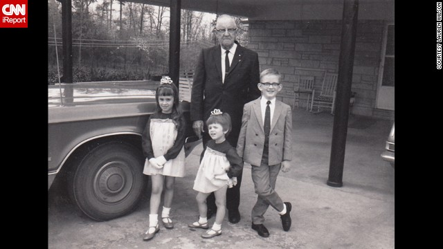 "<a href='http://ireport.cnn.com/docs/DOC-1137306'>Lauren Wilson</a>, front center, remembers being dressed up (just like her sister) for Easter in 1967 in Florence, Alabama. ""I felt like a princess because of the shiny shoes and flow of the chiffon material."""