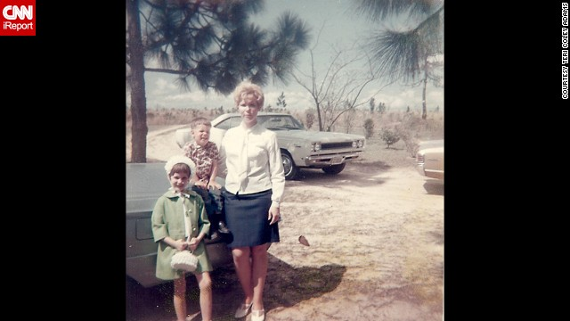 "Seven years old in 1969, <a href='http://ireport.cnn.com/docs/DOC-1140655'>Teri Coley Adams</a>, in the green coat, thought her matching hat and purse were ""the pinnacle of fashion."" This photo was taken two months before her dad returned from Vietnam."