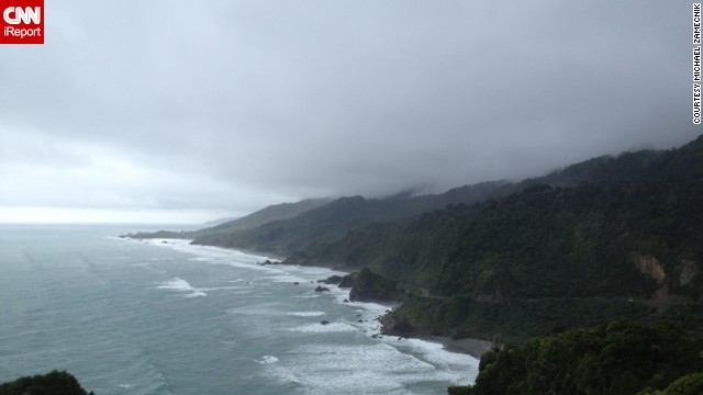 "<a href='http://www.doc.govt.nz/parks-and-recreation/national-parks/paparoa/' target='_blank'>Paparoa National Park</a> is on the South Island of New Zealand and is known for its coastal forest, limestone cliffs and canyons. When<a href='http://ireport.cnn.com/docs/DOC-1141206'> Michael Zamecnik </a>was visiting, a thunderstorm swept over the area. ""By the time we reached the heights above the cliffs of the coastline, I finally got the opportunity to take a photo of how majestic the coast actually looked,"" he said."