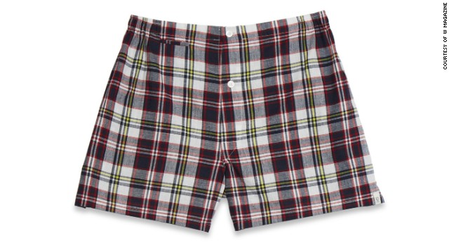 At the lake, a pair of madras shorts practically qualifies as formal. Sleepy Jones Jasper tailored boxers, <a href='sleepyjones.com' target='_blank'>sleepyjones.com</a>.
