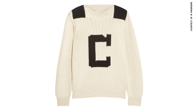 This retro sweater will be much needed on a windy boat ride. Chloé Intarsia cotton-blend sweater, <a href='http://www.net-a-porter.com/product/408162/Chloe/intarsia-cotton-blend-sweater-' target='_blank'>netaporter.com</a>.