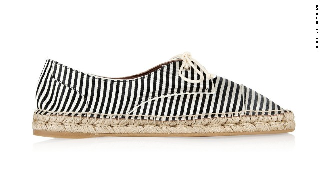 Espadrilles are a chic, practical alternative to sandals—and they remind me of Jane Birkin. Tabitha Simmons Dolly striped silk espadrilles, <a href='netaporter.com' target='_blank'>netaporter.com</a>