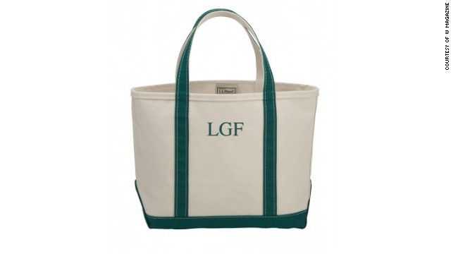 For a true Southern weekend, carry a classic, monogrammed tote bag. L.L. Bean monogrammed boat and tote bag, <a href='llbean.com' target='_blank'>llbean.com</a>.