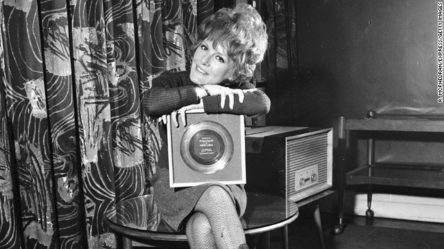 "English singer Petula Clark's gold-record ""Downtown"" was a smash hit in America and around the world in the '60s. She won the Grammy in 1965 for the song."
