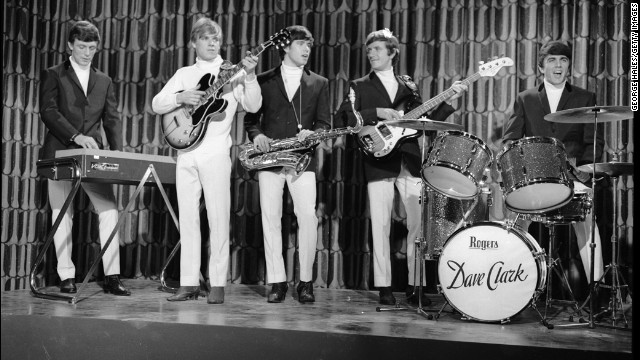"The Dave Clark Five -- from left, Mike Smith, Lenny Davidson, Dennis Payton, Rick Huxley and Dave Clark -- were known for ""Glad All Over"" and ""Bits and Pieces."""