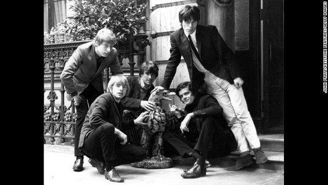 "British rhythm and blues group The Yardbirds include, from left, Chris Dreja, Keith Relf, Jim McCarty, Paul (Sam) Samwell-Smith and Jeff Beck. They hit it big in the U.S. with ""For Your Love,"" ""Heart Full of Soul"" and ""Over Under Sideways Down."""