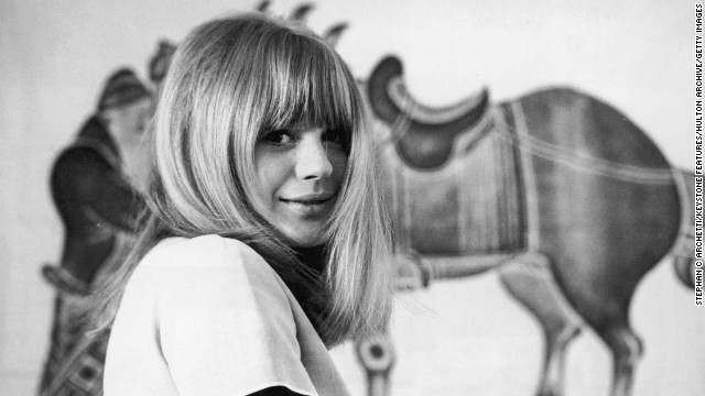 "English singer Marianne Faithfull's career was overshadowed in the 1960s by her highly publicized affair with Mick Jagger. Her 60s hits include ""As Tears Go By"" and ""What Have They Done to the Rain."""