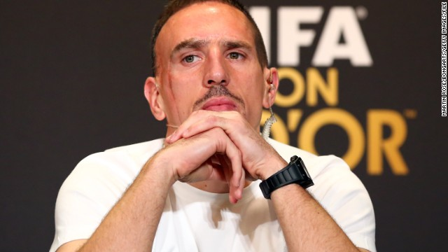 Franck Ribery played in the 2006 World Cup final, when France lost to Italy after a penalty shootout.