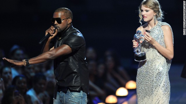 "All the apologies in the world couldn't repair Kanye West's PR damage after he interrupted Taylor Swift's acceptance speech at the 2009 MTV Video Music Awards. Although <a href='http://www.cnn.com/2009/SHOWBIZ/Music/09/15/kanye.west.apology/index.html?iref=allsearch' target='_blank'>he apologized more than once</a> -- <a href='http://music-mix.ew.com/2010/09/04/kanye-west-apologizes-to-taylor-swift-on-twitter-ive-learned-i-only-want-to-do-good/' target='_blank'>via Twitter</a>, by phone and on ""The Tonight Show"" with Jay Leno as host -- public opinion wasn't swayed."