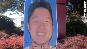 An image of Seattle shooting victim Paul Lee was posted on the Seattle Pacific University campus.