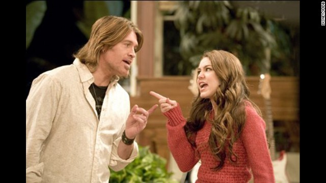 "<strong>""Hannah Montana"": </strong>In more innocent, pre-twerking times, Miley Cyrus starred in the popular Disney show with real dad Billy Ray Cyrus as her on-screen dad. The main character's deceased mom (played by Brooke Shields) only appeared in flashback scenes."