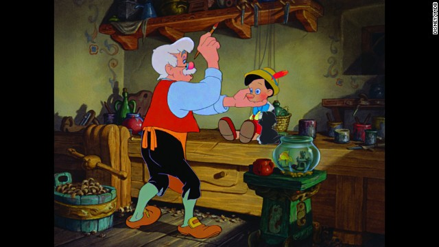 """<strong>""""Pinocchio"""": </strong>In the 1940 classic Disney film, lonely woodcarver Geppetto always wanted one of his wooden puppets to become a real boy. When he wishes on a star that """"I wish my little Pinocchio might be a real boy,"""" his dream finally comes true."""