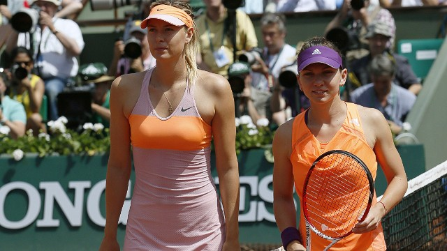 The 2014 female French Open finalists Sharapova and Simona Halep (right) line up for what will be a thrilling Roland Garros showdown.