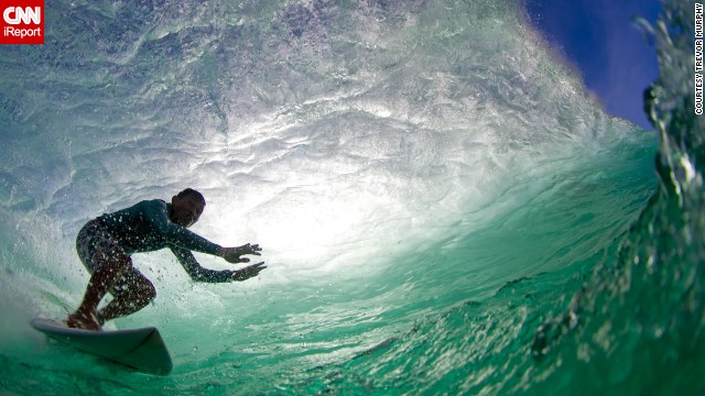 "<a href='http://ireport.cnn.com/docs/DOC-1141939'>Trevor Murphy </a>captured this photo of international surfing champion Mega Semadhi catching a wave at Padang Padang Beach in Bali, Indonesia. ""The hardest thing about water photography is the preparation and timing ... there is no room for error,"" he said."