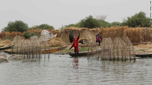 Many of the islands on Lake Chad are inhabited by fishing communities and refugees from Nigeria. One village leader said he used to live on a different island before fleeing during a Boko Haram attack.