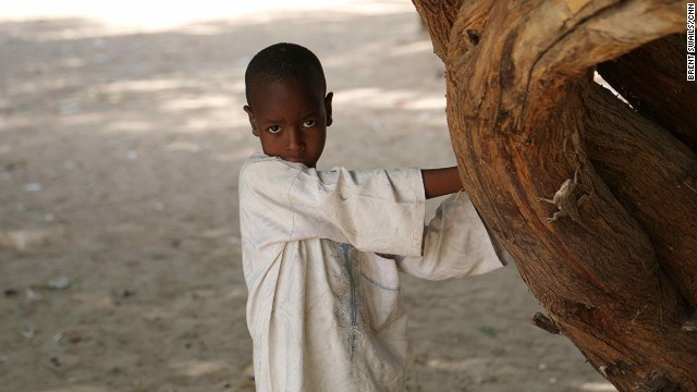 A young boy poses for CNN in Guessere, Niger on May 30. The World Food Programme estimates that Boko Haram's terror campaign has sent at least 25,000 Nigerians fleeing into Niger's remote Diffa region this year alone.