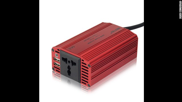 "This one is great for dads who like both camping trips and ""Candy Crush."" There are more powerful inverters for bigger gadgets, but<a href='http://www.amazon.com/outlets-inverter-adapter-notebook-MRI3011BU/dp/B004MDXS0U' target='_blank'> this one</a> ($21) lets you use your car battery to quickly charge a smartphone, tablet or e-reader."