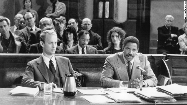 "<strong>""Philadelphia"" (1993)</strong> - Tom Hanks won an Oscar for his performance as a man stricken with AIDS who employs Denzel Washington's character to represent him in a wrongful termination suit. (Netflix)"