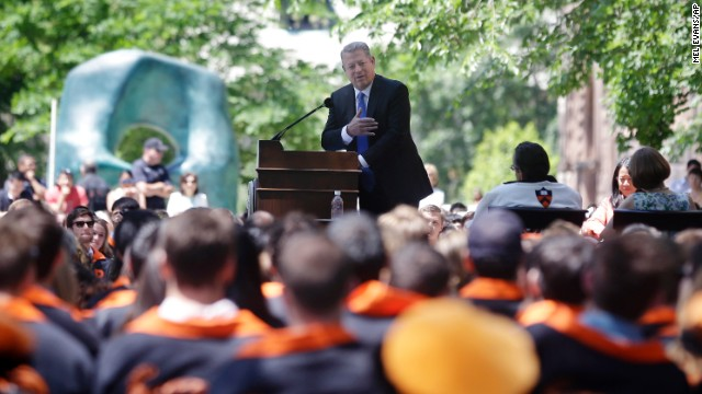 Former Vice President Al Gore addressed the class of 2014 at Princeton University's Class Day on June 2, the day before its commencement ceremony.