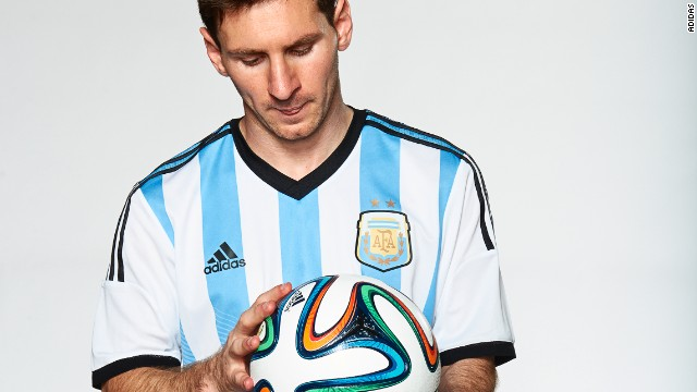 Argentina hero Lionel Messi is pretty handy with the ball at his feet, and he was one of the players enlisted to test out the Brazuca for Adidas.