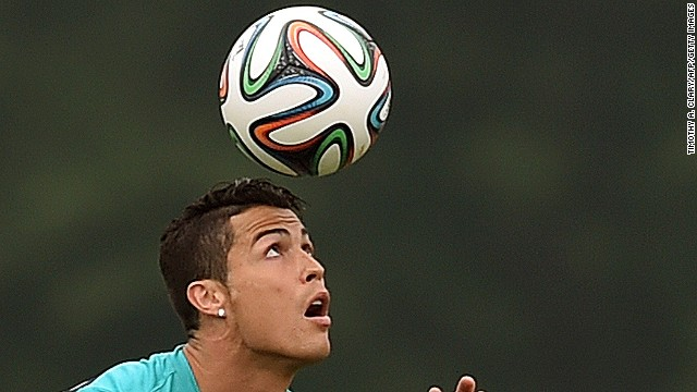 Portugal's Cristiano Ronaldo during training June 9, 2014 in Florham Park, New Jersey.