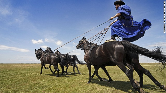 The great grassland plains that sweep out of eastern Hungary are home to an array of unusual animals and farming practices. Flamboyant csikos horsemen are the region's cowboys, famed for their horseback tricks.