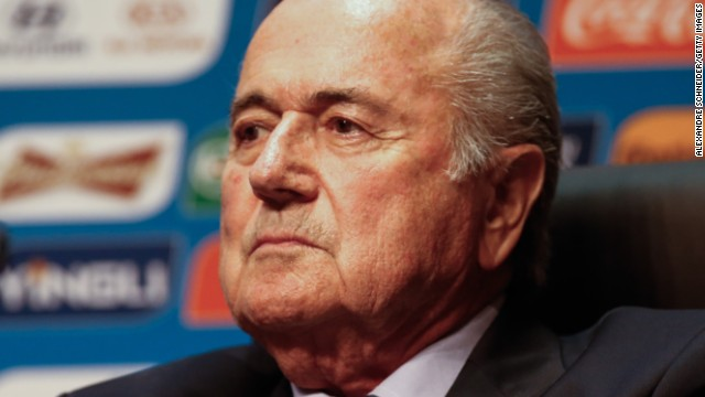 The 78-year-old Sepp Blatter is serving his fourth four-year term as FIFA president.