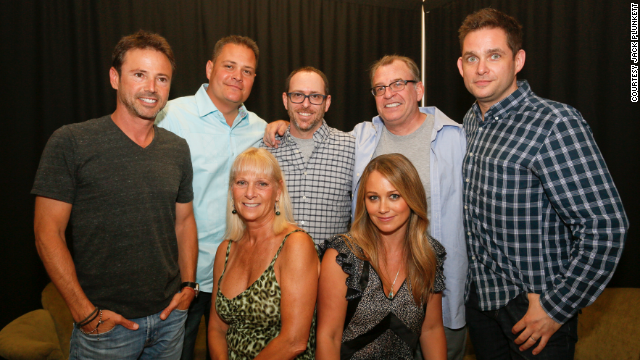 "The cast of the beloved Nickelodeon series ""Hey Dude"" reunited at the ATX Television Festival in Austin, Texas on June 6, 2014, 25 years after the Western-themed sitcom premiered. See what (L-R) David Lascher, Geoffrey Coy, Debrah Kalman, Josh Tygiel, Christine Taylor, David Brisbin and Jonathan Galkin have been up to since then ..."