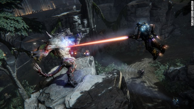 """The twist in multiplayer """"Evolve"""" is that another player is controlling the boss monsters, which """"evolve"""" into stronger foes as the game goes on."""