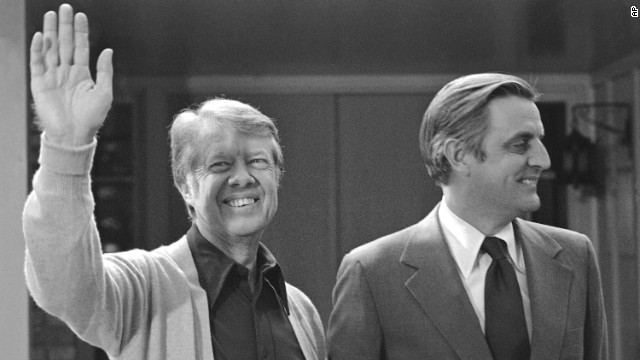 1976: First term Georgia Gov. Jimmy Carter bested a field of better known Democrats to become his party's presidential nominee.