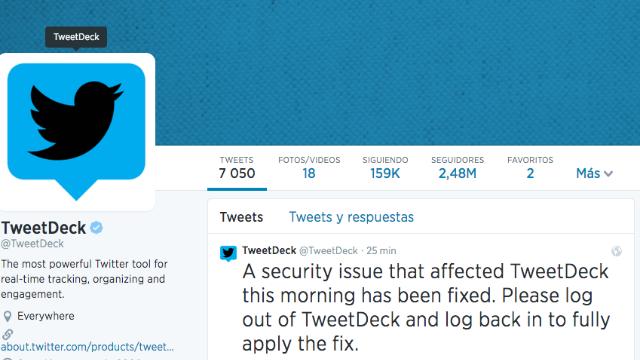 TweetDeck sufre un 'hackeo' en su seguridad