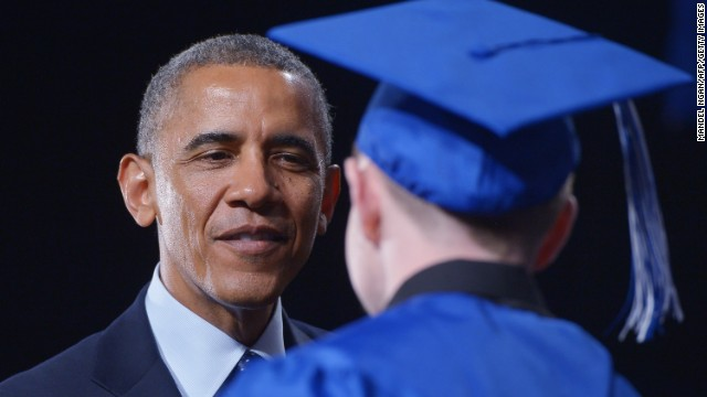 At Mass. high school, Obama applauds students graduating with skills 'to fix America'