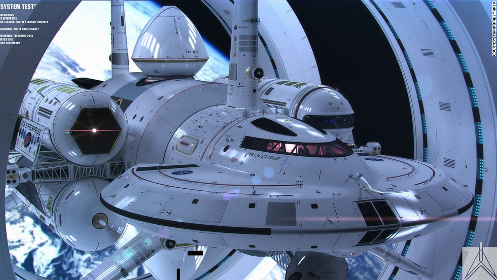 "NASA's warp-speed spacecraft, designed by physicist Harold White, is based loosely on drawings Matthew Jeffries' 1965 drawings of ""Star Trek's"" Enterprise."