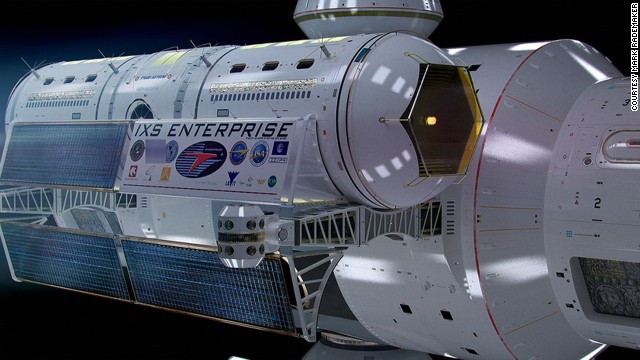 "White named the spacecraft IXS Enterprise, referencing the ship from the ""Star Trek"" TV show. He says that parts of Jeffries' 1965 designs were mathematically correct."