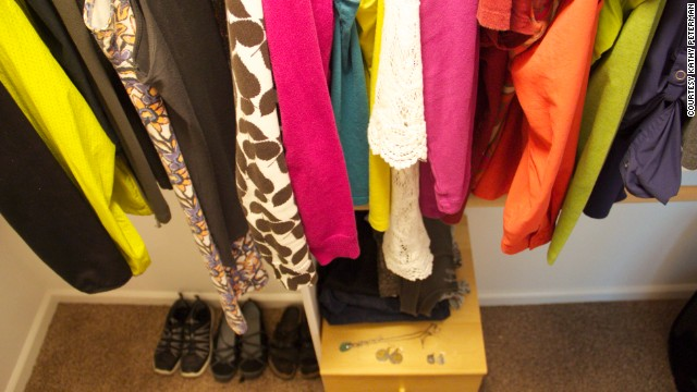 Courtney Carver's <a href='http://theproject333.com/' target='_blank'>Project 333</a> challenges people to pare down their wardrobes to 33 items for three months at a time. <a href='http://the3rdchapter.me/tag/project-333/' target='_blank'>Kathy Peterman</a> of Portland, Oregon, started in February. It took her three days to figure out which items would make the cut.