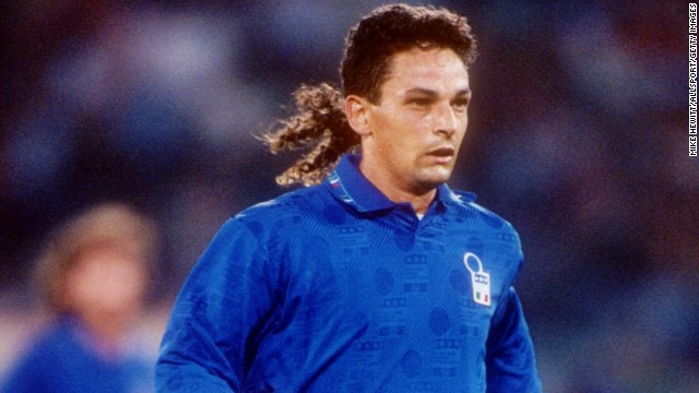 "Roberto Baggio's Jedi-inspired style gave rise to arguably the greatest nickname in sport. ""The Divine Ponytail"" dazzled on his World Cup debut in 1990, scoring the goal of the tournament in Italy's group stage win over Czechoslovakia before going on to score five times at USA '94. But he will always be remembered for missing his spot kick in Italy's penalty shootout defeat to Brazil in the final, leaving ""Il Divin' Codino"" feeling less than divine."