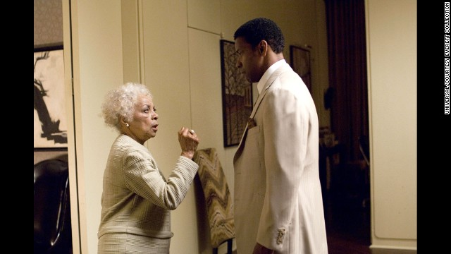 "Dee received her only Oscar nomination for 2007's ""American Gangster"" as the mother of Denzel Washington."