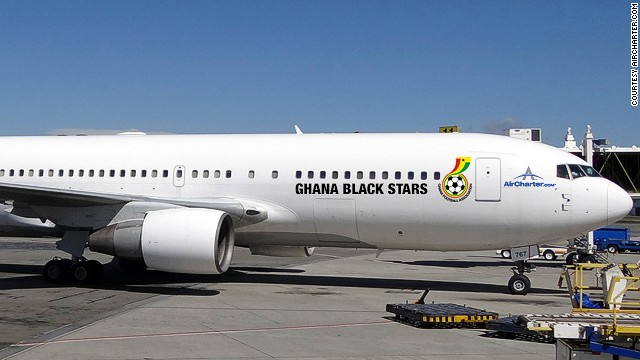 Solid, sturdy characters behind with a flash of dazzling flair up front -- the motif on the Aircharter.com Boeing 767 is much like the team it's transporting. Let's just hope star forward Asamoah Gyan remembered to pack his astonishing goal-scoring record.